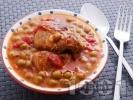 Рецепта Яхния от свинско месо от бут с грах от консерва
